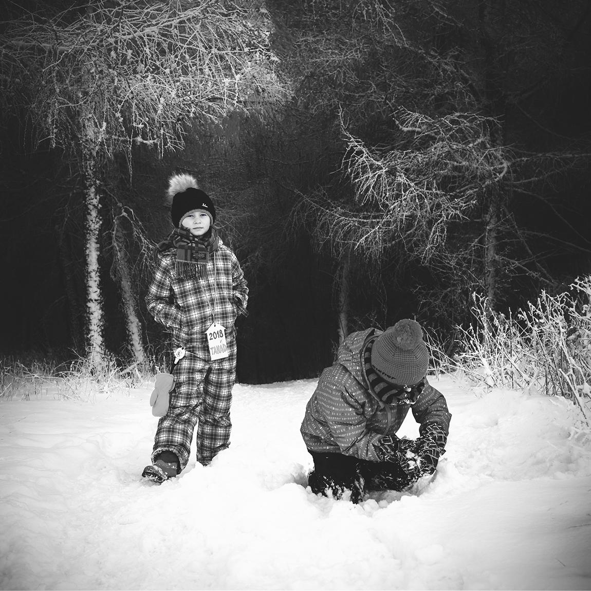 reportážní rodinné focení zima 7